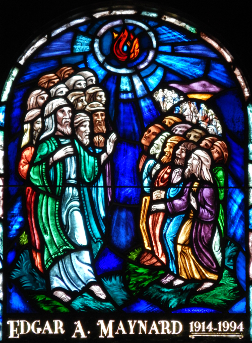 one of two stained glass windows by daniel maher stained glass
